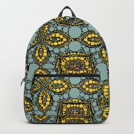 TRATTORIA intricate mosaic symmetrical repeating pattern Backpack