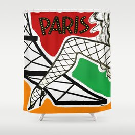 Vintage Paris France Travel Shower Curtain