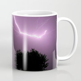 Purple Lightning Night Sky Coffee Mug