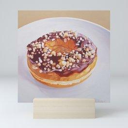 Salted Caramel Donut painting Mini Art Print