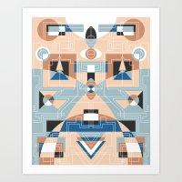 Tribal Technology 2 Art Print