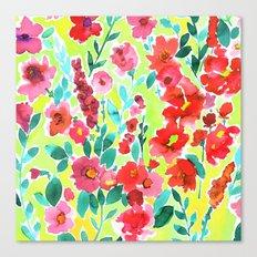Isla Floral Yellow Canvas Print