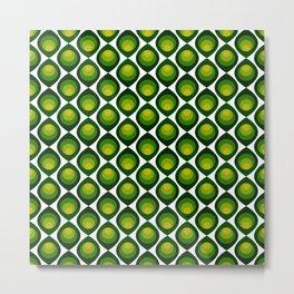 Retro petals design - Shade of green Metal Print