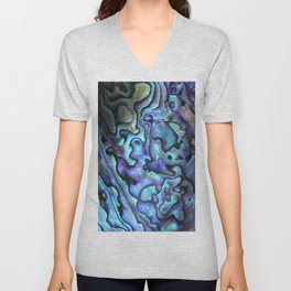 Deep Purple Abalone Shell Unisex V-Neck