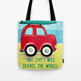 One day I will travel the world Tote Bag