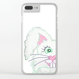 Funny Bunny Bed and Bath Clear iPhone Case