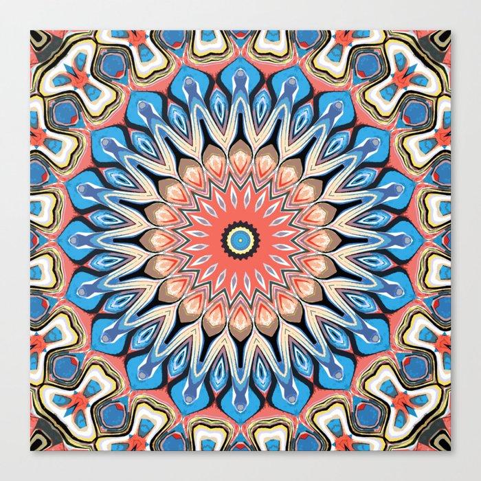 Abstract Flower Mandala Canvas Print