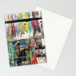 Colorful Bohemian Abstract 3 Stationery Cards
