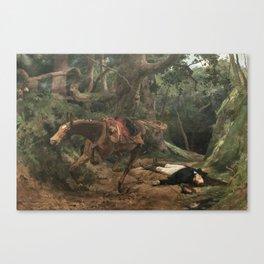 Muerte de Sucre en Berruecos 1895 by Arturo Michelena Canvas Print