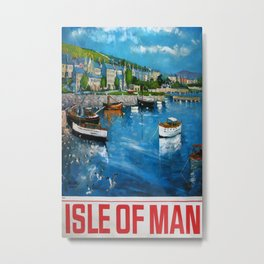 Isle of Man Vintage Travel Poster Metal Print