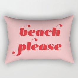 Beach Please Rectangular Pillow