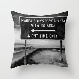 Marfa Mystery Lights, Texas Throw Pillow