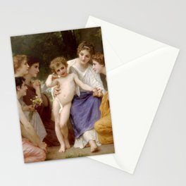 "William-Adolphe Bouguereau ""Admiration"" Stationery Cards"