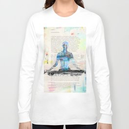Yoga Book. Lesson 1 Concentration - painting - art print  Long Sleeve T-shirt