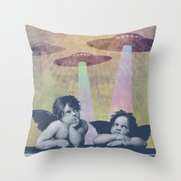 Meanwhile, up in Heaven... Throw Pillow