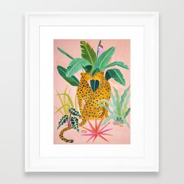 Cheetah Crush Framed Art Print
