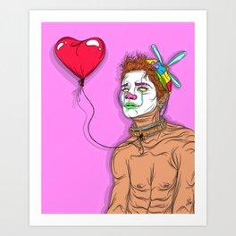 Pagliaccio Triste Art Print