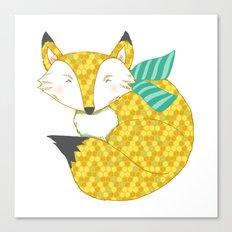 Fashionable Fox Canvas Print