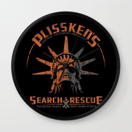 Snake Plissken's Search & Rescue Pty. Ltd. Wall Clock
