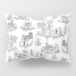 Zombie Toile - B&W Pillow Sham