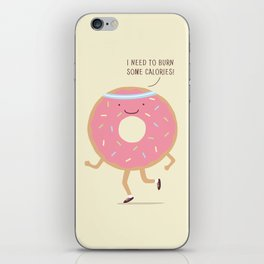 The Donut workout iPhone Skin