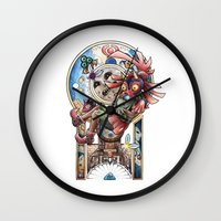 majora Wall Clocks featuring The song of Majora by Alejandra Vindas