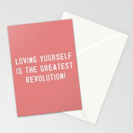 Loving yourself is the greatest revolution! Stationery Cards