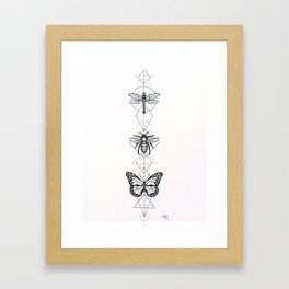 Geo Insects Framed Art Print