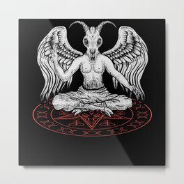Baphomet Pentagram Nu Goth Occult Witch Satanism Metal Print