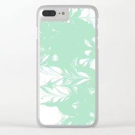 Takata - spilled ink marble swirl watercolor painting abstract minimal art Clear iPhone Case