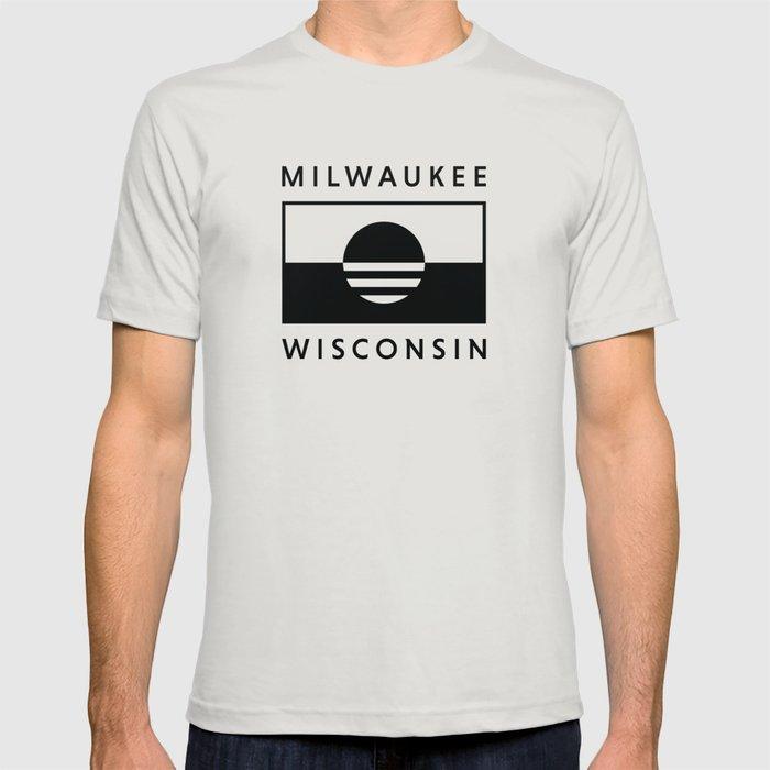 Milwaukee Wisconsin - Black - People's Flag of Milwaukee T-shirt
