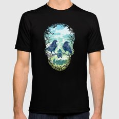 Nature's Skull Mens Fitted Tee MEDIUM Black