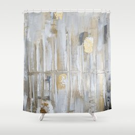 Metallic Abstract Shower Curtain
