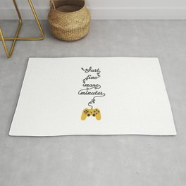 Just Five More Minutes - Video Games Playstation Controller Rug