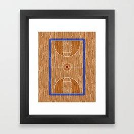 Wooden Basketball Court Framed Art Print