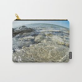 Beautiful water surface on rocky seashore Carry-All Pouch