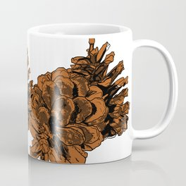 Brown Pine Cones Coffee Mug