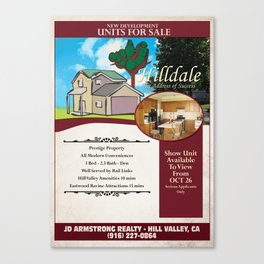 Back to the Future - Hilldale Real Estate Canvas Print