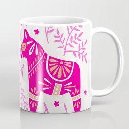 Swedish Dala Horses – Pink Palette Coffee Mug