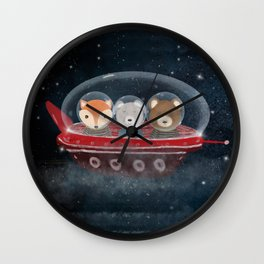 a little space adventure Wall Clock