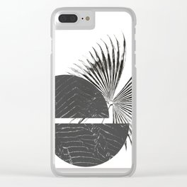 Contrast - Minimalism Mid-Century Modern Forms Clear iPhone Case