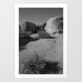 Desert Rocks Art Print