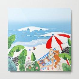Beach Holiday - Part 3 Metal Print