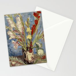 Van Gogh - Vase with Gladioli and China Asters Stationery Cards