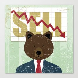 Humanimal: Stock exchange concept Canvas Print