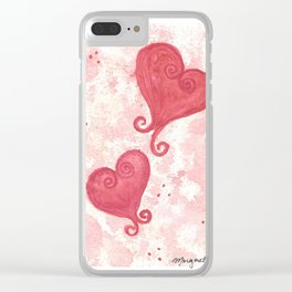 Curly Cuties Clear iPhone Case