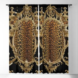 Leopard Chinoise Blackout Curtain