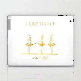 gold ballerinas . art Laptop & iPad Skin