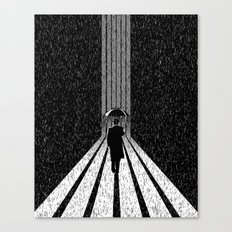 Winter's Long Road Canvas Print