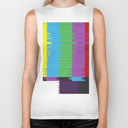 color tv bar#glitch#effect Biker Tank